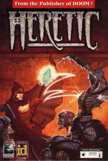 <i>Heretic</i> (video game) 1994 dark fantasy first-person shooter video game developed by Raven Software