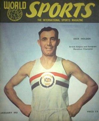 Jack Holden (athlete) - Holden on the January 1951 cover of World Sports Magazine