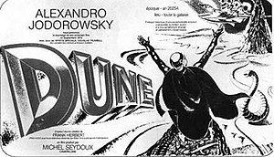 Dune (novel) - Pre-release flyer for Jodorowsky's Dune