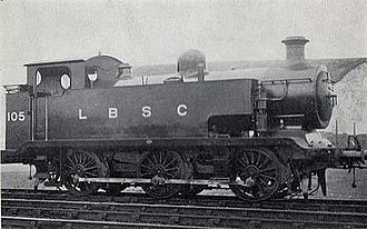 LB&SCR E2 class - The second series E2 with extended side tanks, 1915