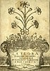 Frontispiece of the La Flora libretto published 1628