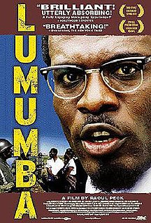 <i>Lumumba</i> (film) 2000 film by Raoul Peck