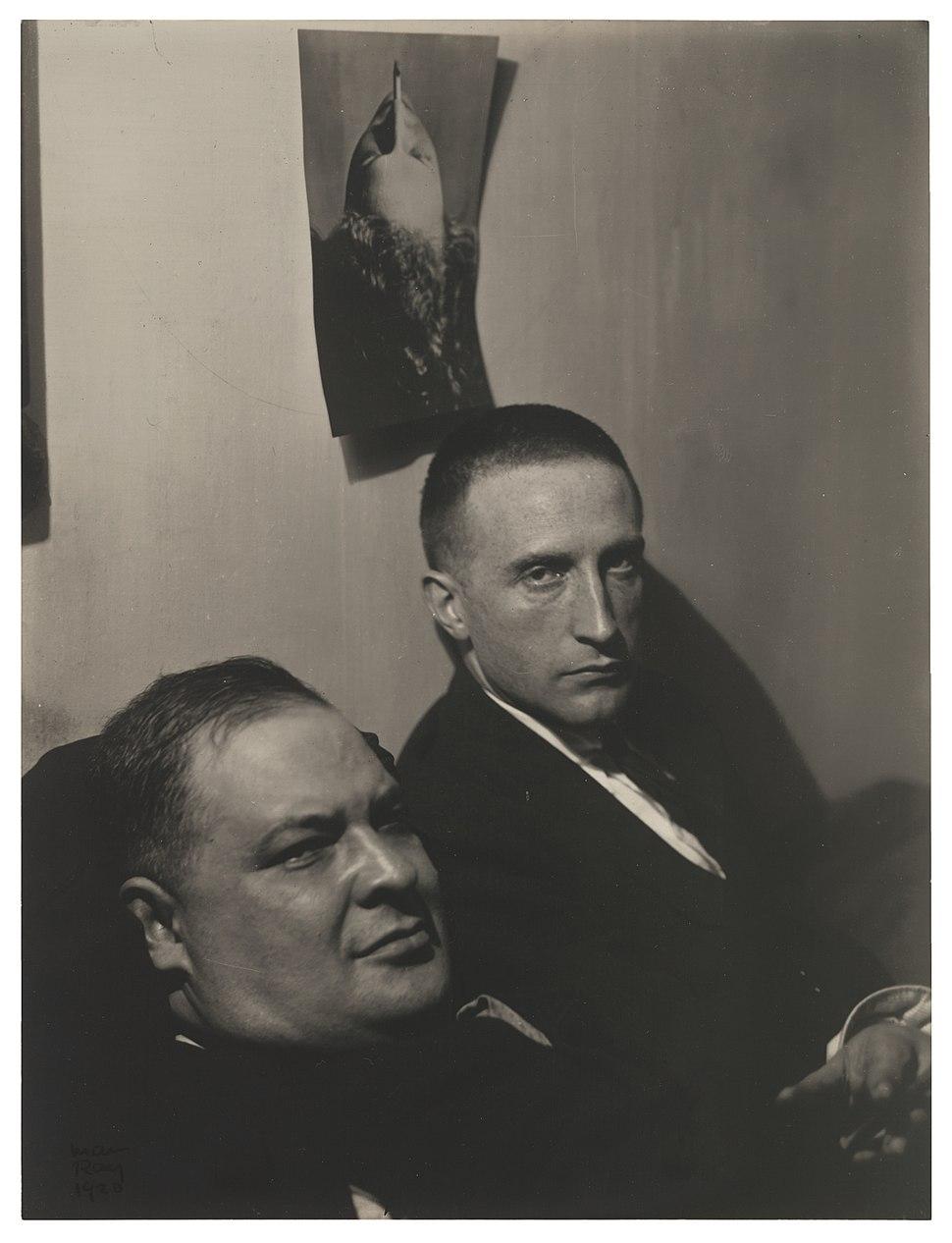 Man Ray, 1920, Three Heads (Joseph Stella and Marcel Duchamp), gelatin silver print, 20.7 x 15.7 cm, Museum of Modern Art
