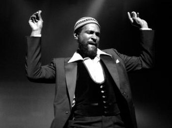 Marvin Gaye performing in concert during the 1...
