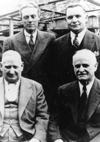 John Y. Barlow - The priesthood council with Barlow (lower left)