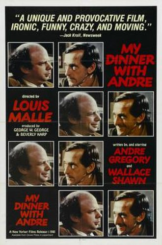 My Dinner with Andre - Image: My Dinner with Andre 1981 film theatrical release poster