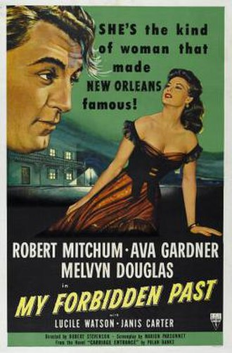 My Forbidden Past - Theatrical release poster