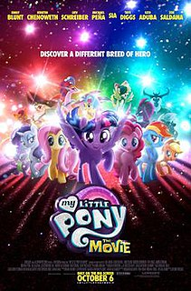 <i>My Little Pony: The Movie</i> (2017 film) 2017 animated feature film by Jayson Thiessen