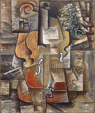 Violon et raisins - Image: Pablo Picasso, 1912, Violin and Grapes, oil on canvas, 61 x 50.8 cm, Museum of Modern Art
