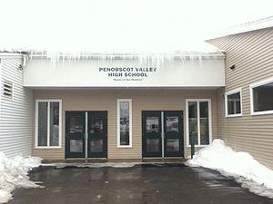 Penobscot Valley High School - Image: Penobscot Valley High School entrance