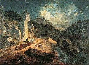 Julius Caesar Ibbetson - Phaëton in a Thunderstorm (1798)