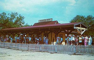 Pioneer City - The railroad station at Pioneer City