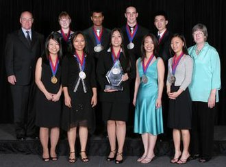 Plano Senior High School - The 2006 Plano Senior High Academic Decathlon team celebrating after placing second overall at the USAD National Finals