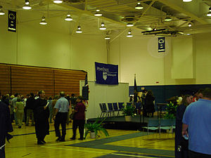 Penn State Greater Allegheny - The Wunderley Gymnasium during the 2005 graduation ceremony.