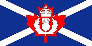 The Queen's Own Cameron Highlanders of Canada - The camp flag of The Queen's Own Cameron Highlanders of Canada.