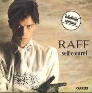 Self Control (Raf song) - Image: Raf Self Control