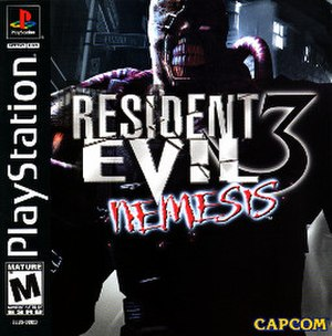 Resident Evil 3: Nemesis - North American PlayStation cover art