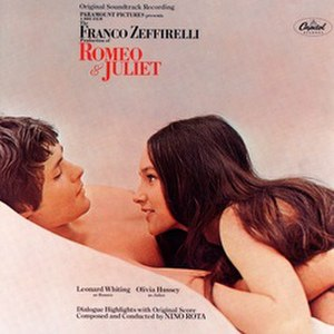 Romeo and Juliet (1968 film soundtrack) - Image: Romeo and Juliet 1968 soundtrack cover