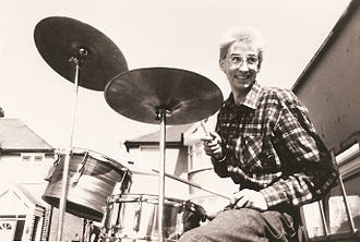 The Chefs - Russ Greenwood, drummer of the Chefs, April 1981