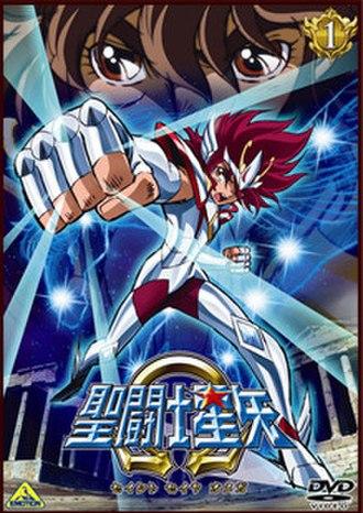 Saint Seiya Omega - Cover of the first release of Saint Seiya Omega featuring Pegasus Koga and Sagittarius Seiya.