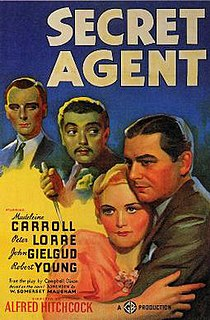 <i>Secret Agent</i> (1936 film) 1936 film by Alfred Hitchcock