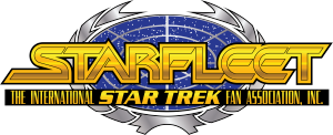 The logo of STARFLEET International, the large...