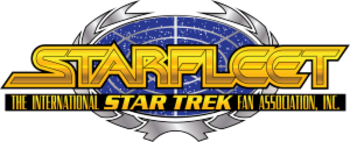 The logo of STARFLEET International, the large...