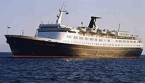 Messageries Maritimes - Cambodge was the first of three new liners that modernised MM's Far East route the 1950s