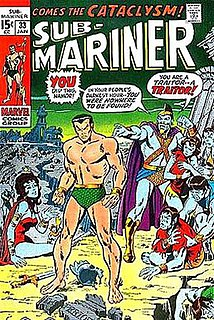 <i>Homo mermanus</i> Fictional race appearing in Marvel Comic books