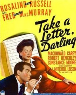 <i>Take a Letter, Darling</i> 1942 film by Mitchell Leisen