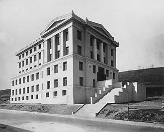 """Thaw Hall - The only surviving building of the """"Acropolis Plan"""" seen here relatively new about 1910"""