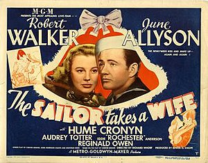 The Sailor Takes a Wife - Theatrical release poster