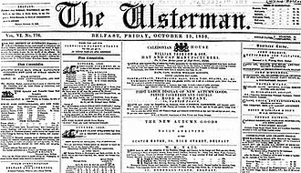 Ulsterman (newspaper) - The Ulsterman, 15 October 1858