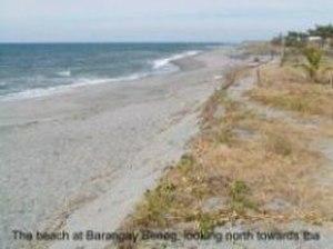 Botolan - The beach at Barangay Beneg, looking north towards Iba