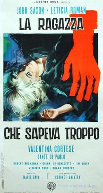 The Girl Who Knew Too Much (1963 film) - Italian film poster