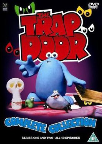 The Trap Door - DVD cover with characters Boni, Berk and Drutt (left to right)