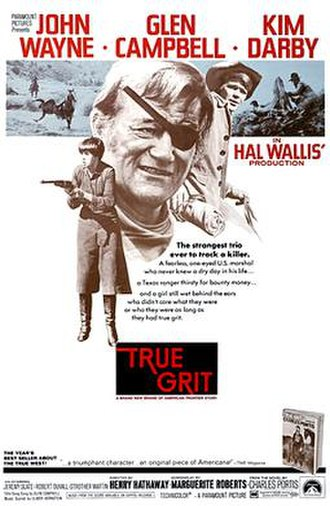 True Grit (1969 film) - Theatrical release poster