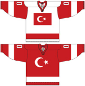 Turkey men's national ice hockey team - Image: Turkey national ice hockey team Home & Away Jerseys