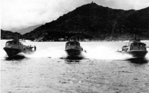 Vietnam Center and Archive - Three Swift Boats n Cam Ranh Bay, Vietnam. Corrado Rudolfo Lutz Collection (va025931)