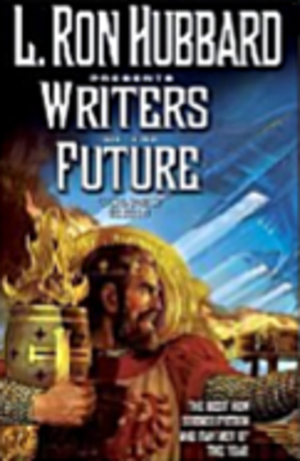 Writers of the Future - Cover of Volume 22 of the anthology series Writers of the Future, prominently featuring Hubbard's name