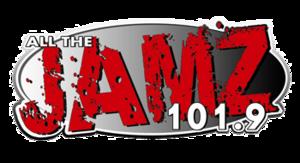 "WYLR - WRBP logo, during the ""Jamz 101.9"" era."