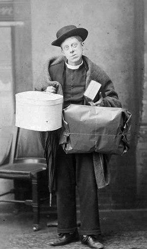 W. S. Penley - Penley as Spalding in The Private Secretary, 1884