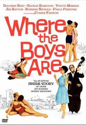 Where the Boys Are - DVD cover by Reynold Brown