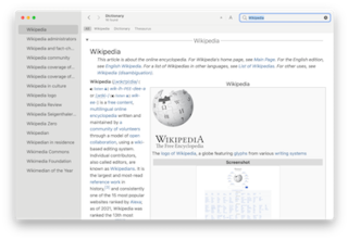 Dictionary (software) software developed by Apple
