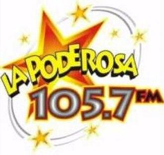 XHEMI-FM - Image: XHEMI La Poderosa 105.7 logo