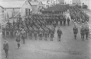 113th Battalion (Lethbridge Highlanders), CEF - 113th Battalion portrait, Lethbridge exhibition grounds, Lethbridge AB