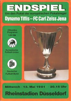 1981 European Cup Winners' Cup Final - Image: 1981 European Cup Winners' Cup Final programme