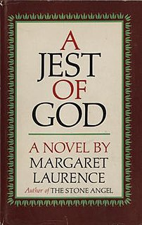 <i>A Jest of God</i> book by Margaret Laurence