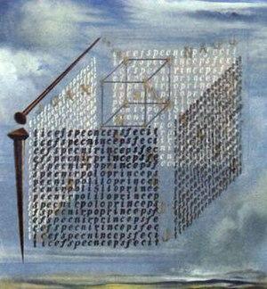 Church of San Juan Apóstol y Evangelista, Santianes de Pravia -  Painting of Salvador Dalí inspired by the foundation stone.