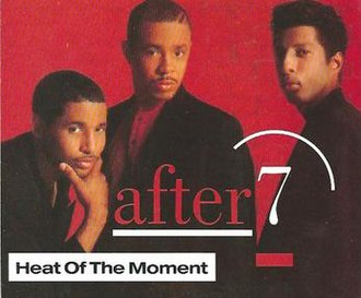 Heat of the Moment (After 7 song) - Image: After 7 Heat of the Moment single cover